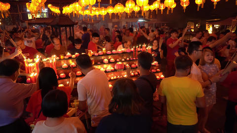 Worshiper burn the incense stick Live Action