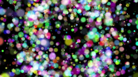 A colorful ball spreads like an explosion 動畫