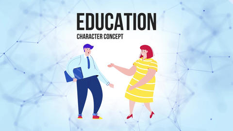 Education - Flat Concept After Effects Template
