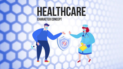 Healthcare - Flat Concept After Effects Template