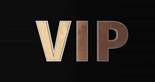 VIP. Very Important Person. 3D Promotion Intro. Gold Text Logo Animation