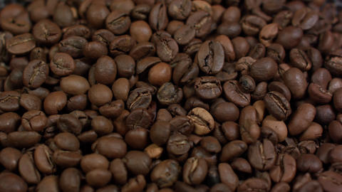 Close-up of coffee beans background Footage