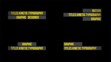 Titles Kinetic Typography After Effectsテンプレート