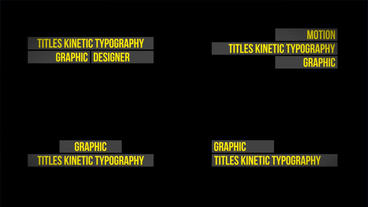 Titles Kinetic Typography After Effects Project