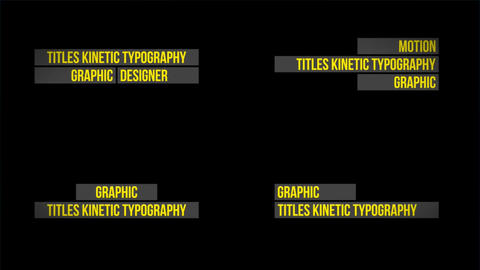 Titles Kinetic Typography After Effects Template