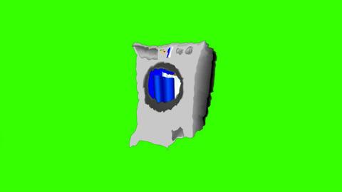 Unbalanced Washing Machine: Green Screen + Looping Animation