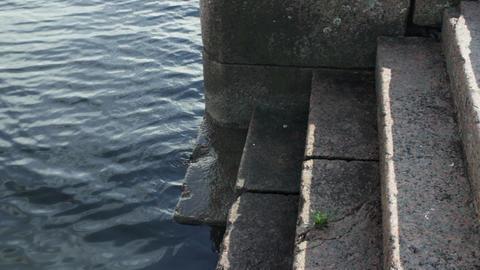 pier granite steps Footage