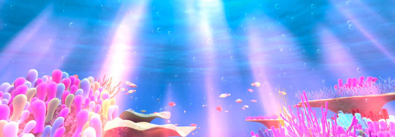 Dream Story Underwater World Animation Show Stage Performing Background Video Animation