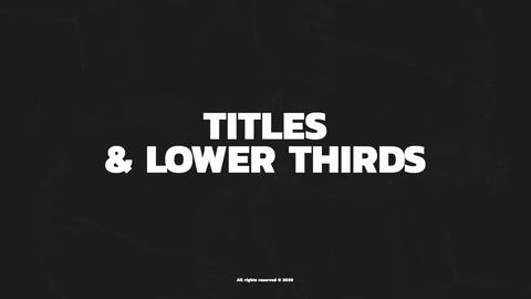 Modern Titles & Lower Thirds After Effects Template