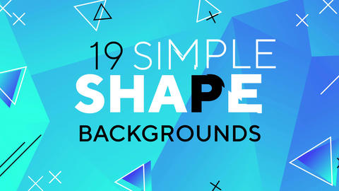 19 Simple Shape Backgrounds Motion Graphics Template