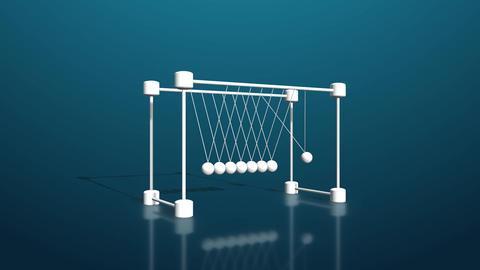 Element3D - 「ニュートンのゆりかご」っぽいオブジェクト After Effectsテンプレート
