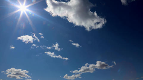 Blue Sky Time Lapse, Beautiful Cloud Space Weather Beautiful Live Action