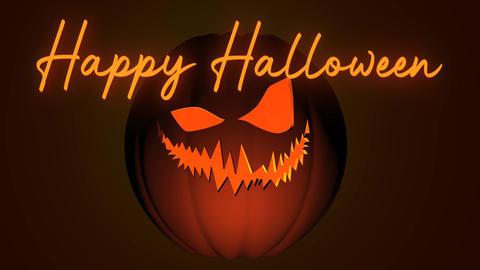 Halloween Pumpkin Title for FCP Apple Motion Template
