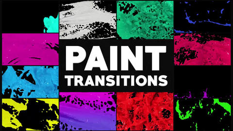 Dynamic Paint Transitions After Effects Template