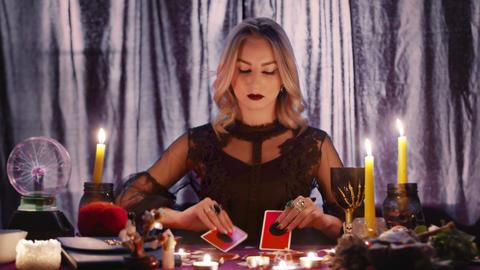 Tarot Cards Seance Black Magic Future Prophecy Mystic Ritual Oracle Medium Live Action