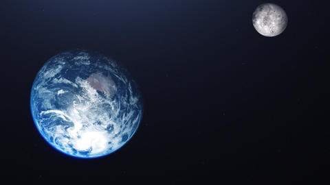 earth planet moon planet space planet earth world rotating satellite moon satellite space Animation
