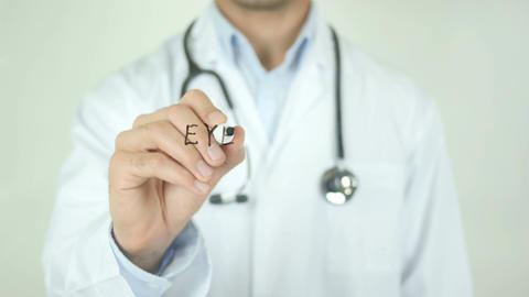 Eyesight, Doctor Writing on Transparent Screen Footage