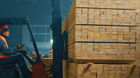 Trucks transporting blocks of wood Footage