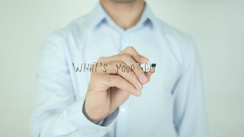 What's Your Plan for Retirement ?, Writing On Transparent Screen Footage