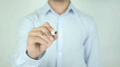 Who Are You ?, Writing On Transparent Screen Footage