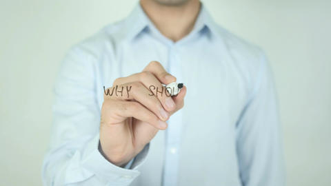 Why Should We Hire You ?, Writing On Transparent Screen Footage