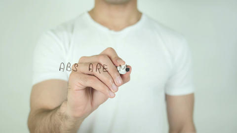 Abs are Made in The Kitchen, Writing On Transparent Screen Footage