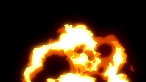 Cartoon effect fire 06 Animation