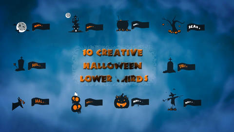 10 Creative Halloween Lower Thirds After Effects Template