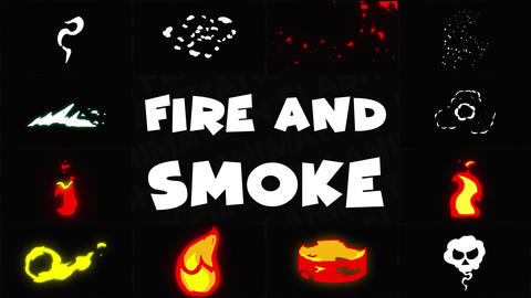 Fire And Smoke Pack 01 After Effects Template