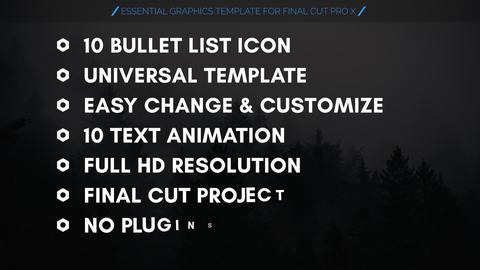 Bullet List Kit Apple Motion Template