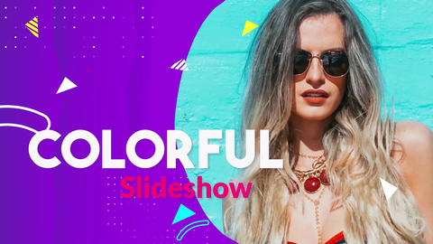 Colorful Slideshow Apple Motion Template