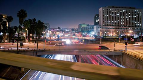 Los Angeles Traffic Hyper Lapse Live Action