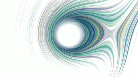 Elliptic colorful lines rotates, expands the individual bars in the color of the spectrum, and then Live Action