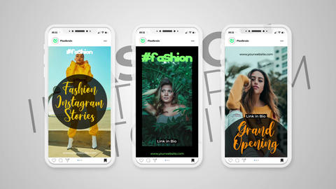 Fashion Instagram Stories After Effects Template