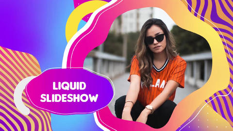 Liquid Colorful Slideshow After Effects Template