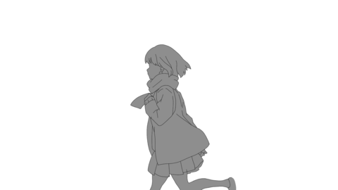 The running girl animation loop Alpha 動畫