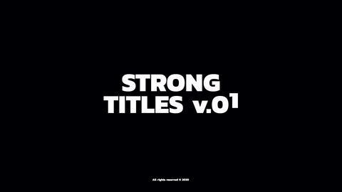 Strong Titles Motion Graphics Template