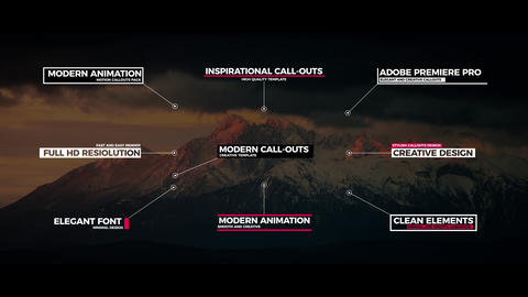 Modern Call Outs After Effects Template