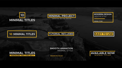 Minimal Titles Pack After Effects Template