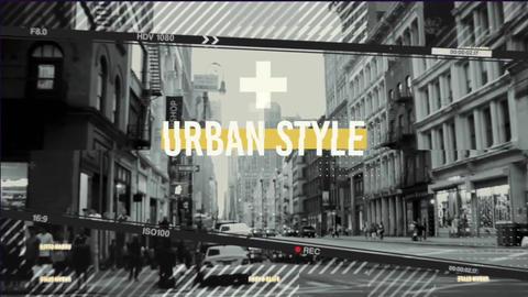Urban Frames Opener Apple Motion Template