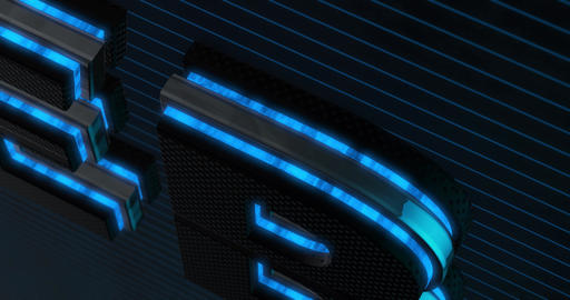 Web. 3D Promotion Intro. Text Logo Animation
