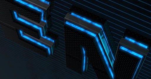 Open. 3D Promotion Intro. Text Logo Animation