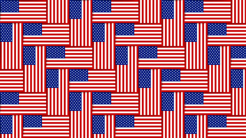 American pattern composed from national flags of the United States of America on Animation