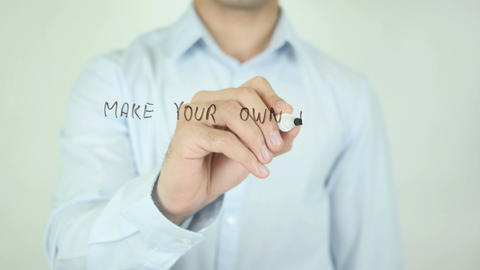 Make Your Own Dream Into Reality, Writing On Transparent Screen Footage