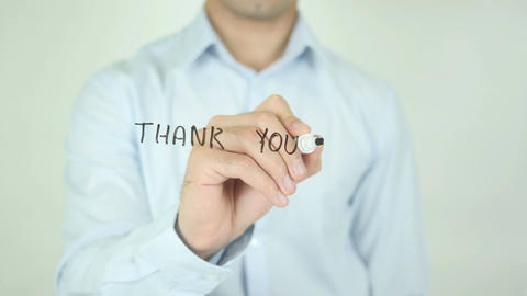 Thank you For Your Support, Writing on Screen Footage