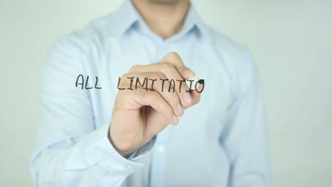 All Limitations Are Self Imposed, Writing On Transparent Screen Live Action