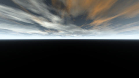 Sky 3d grey and yellow black ground easy for titles Animation