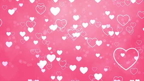 Pink Valentines and Wedding Hearts loop background Live Action