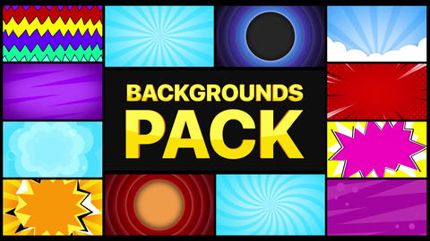 Backgrounds Pack Apple Motion Template