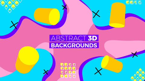 Abstract 3D Backgrounds Motion Graphics Template